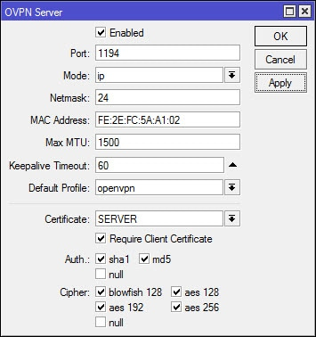 MikroTik: Setup a Site-to-Site OpenVPN Connection – Marthur